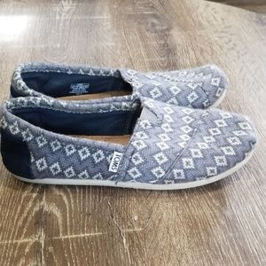 Tom's Classic flats grey wool knit size 8